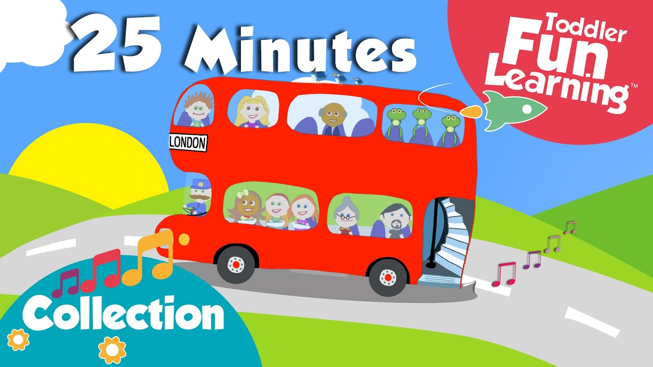 wheels on the bus more toddler songs nursery rhymes collection