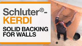 Schluter®-KERDI over Solid Backing for Walls