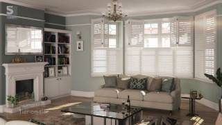 Living Room Plantation Shutters from S:CRAFT