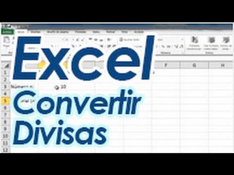 Excel - Convertidor de moneda