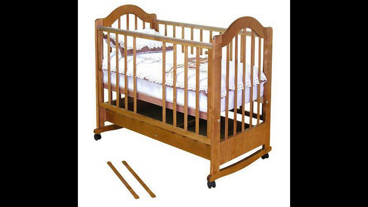детская кроватка красная