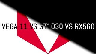 Ryzen 3400G №2 || Vega 11 vs gt 1030 vs rx 560