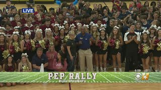 CBS 11 Pep Rally: That's A Wrap At Central High School!