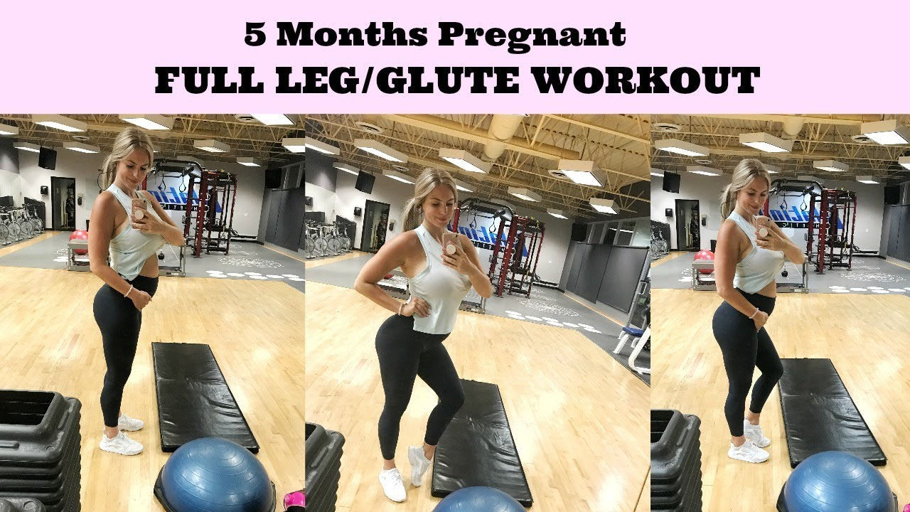 Second Trimester Leg Workout | 5 Months Pregnant - YouTube