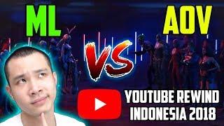 Download Video ML VS AOV LAGI?? YOUTUBE REWIND INDONESIA 2018 (REACTION) MP3 3GP MP4