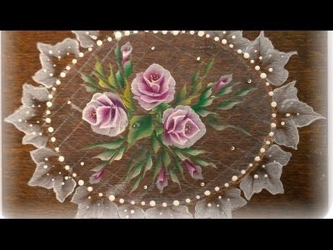 One stroke dipingere su legno rosa facile youtube