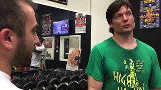 Vazgen Soghoyan and Devon Larratt armwrestling training