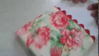 Pano de prato simples com embalagem de tule – Aprenda a fazer