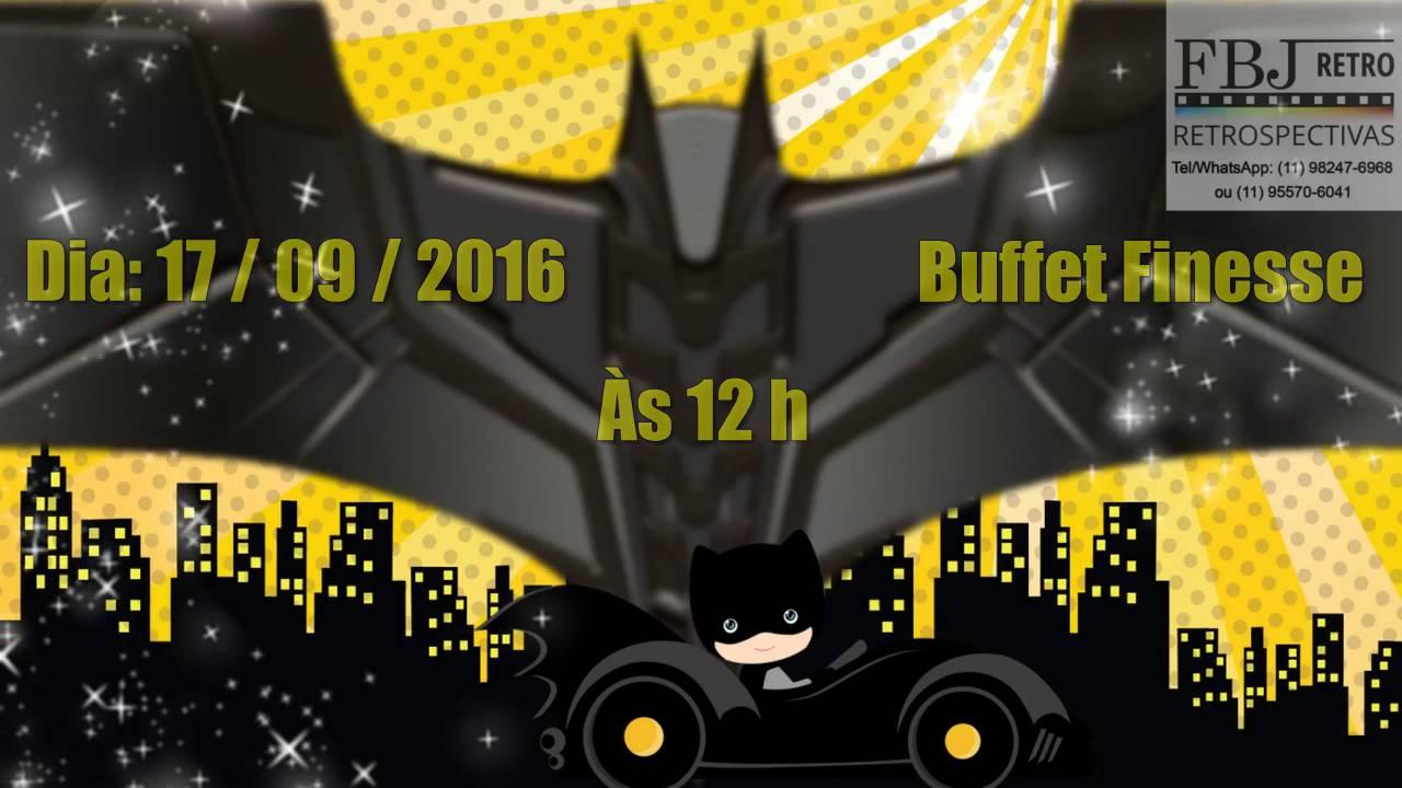 Convite Animado Batman Youtube