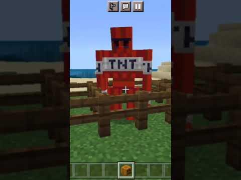 Minecraft But you can spawn TNT Golem #minecraft #shorts