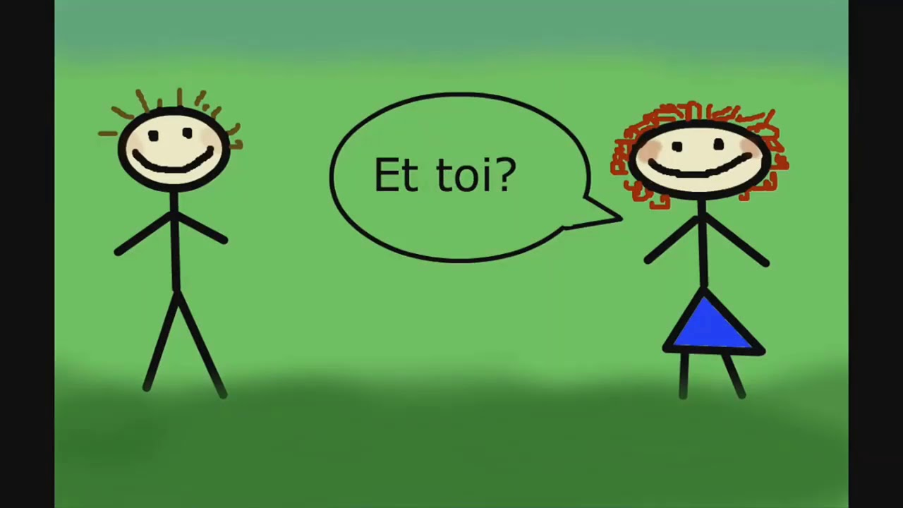 محادثة بالفرنسية بين شخصين مترجمة بالعربية لتتعلم كيف تقدم نفسك Youtube