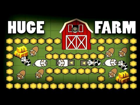 Made Insane Huge Farm - Trapping Every Animal In MooMoo.io