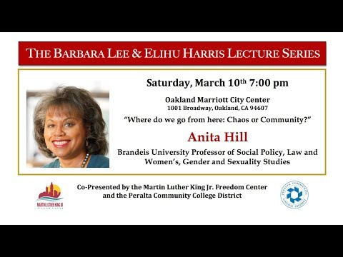 The Barbara Lee and Elihu Harris Lecture Series - Anita Hill