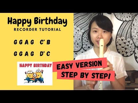 Happy Birthday Recorder Tutorial (How to play)