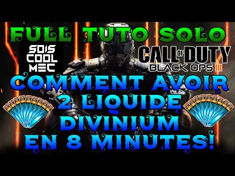 Comment Gagné 2 Liquide Divinuim en 8 Minutes! Solo! Full Tuto! Top Astuce! BO3 Zombie Chronicles!