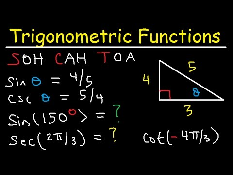 Trigonometric Functions of Any Angle - Unit Circle, Radians, Degrees, Coterminal & Reference Angles