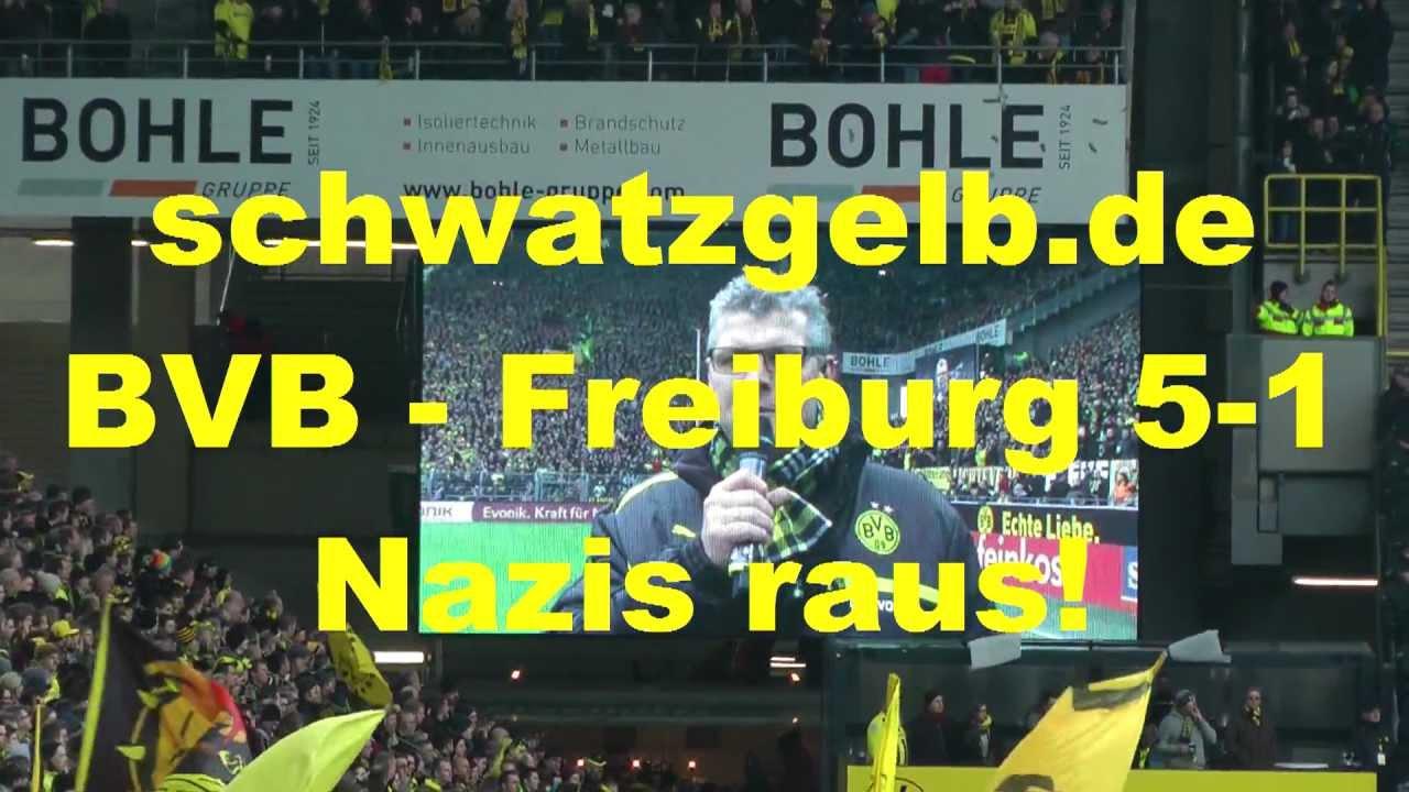 BVB-Freiburg 5-1 Borussia Dortmund Aufruf gegen Rassismus