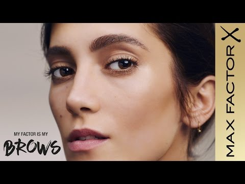 SarahSofie Boussnina: MyFactor is my eyebrows  Max Factor