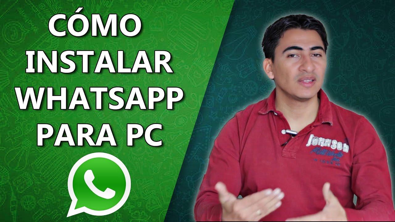 como instalar whatsapp en mi laptop windows 7