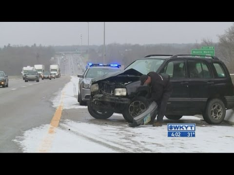 Light snow causing travel troubles in Central Kentucky