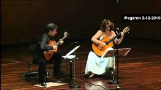 Chopin-Nocturne Op.9 No 1-ATHENS MEGARON-Classical Guitars Live-Evangelos Boudounis - Maro Razi