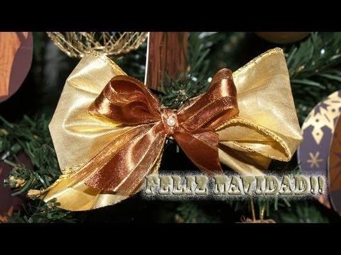 Adornos para el rbol de navidad 3 lazos dobles diy - Lazos para arbol de navidad ...