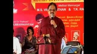 Download Video SPB sings vaan nila song in a Rotary fellowship music program MP3 3GP MP4
