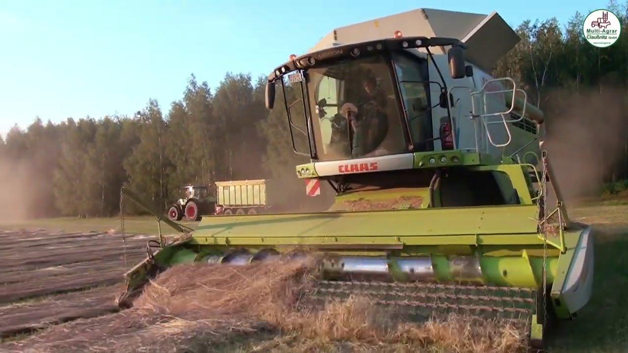 Grassamen Ernte 2020 - Multi Agrar Claußnitz, Claas, John Deere, Fendt, Volvo