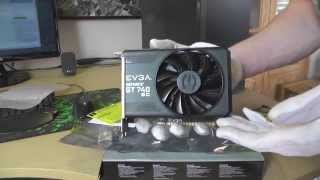 evga geforce gt 740 superclocked 1gb graphics card unboxing video hd