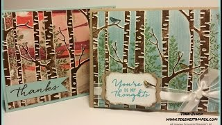 The Woodland Embossing Folder from Stampin' Up! is so awesome and i...
