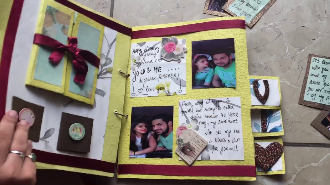 Diy Handmade Gift For Male Best Friend Name Album Youtube