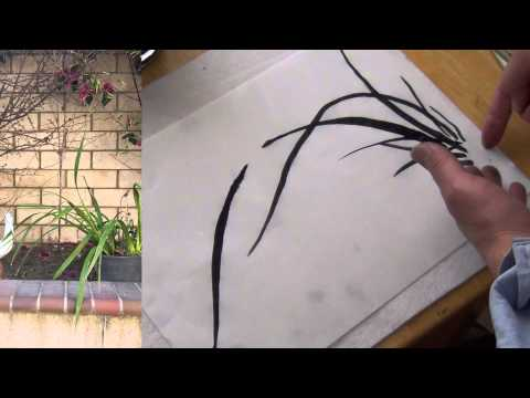 How to Paint Wild Orchid in Chinese Brush Painting or Sumi-e