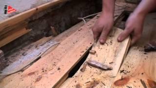 Shnilé dřevěné podlahy bez izolace myši a plísně řádí pod podlahou !