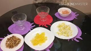 Салат с креветками и сочными ананасами.