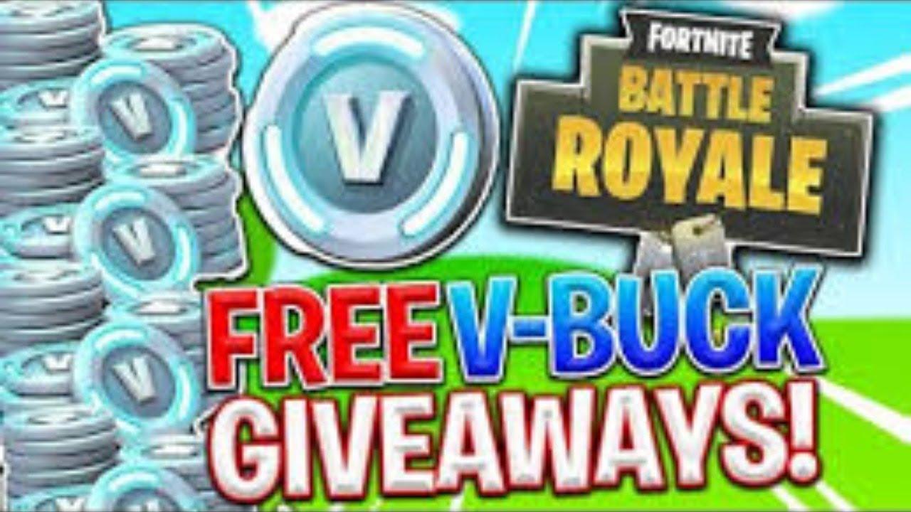 Fortnite Free Vbucks Giveaway **LIVE** - YouTube