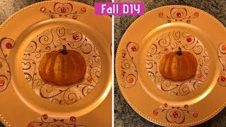Dollar Tree Fall DIY Chargers Easy 2018