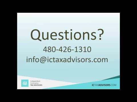 Tax Strategies for Independent Contractors (Webinar)