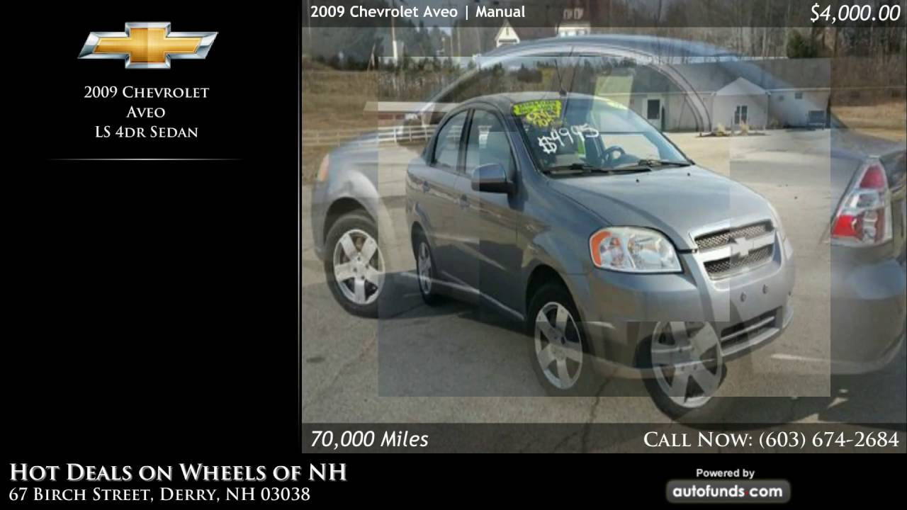 Used 2009 Chevrolet Aveo | Hot Deals on Wheels of NH, Derry, NH ...