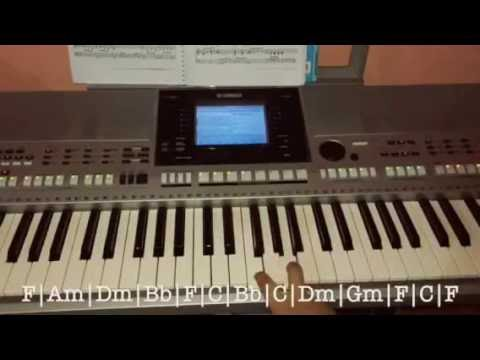 Tutorial Cant Help Falling In Love Piano Chords Easy For Beginner