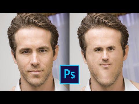 Как сделать маленькое лицо в фотошопе