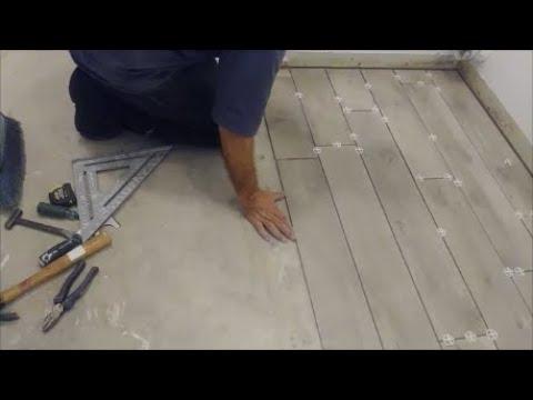 how to randomly install wood look porcelain tile set tile in a random pattern