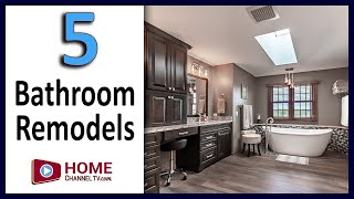 Bathroom Remodel Makeover Ideas - 5 Before & After Bathroom Renovation Designs