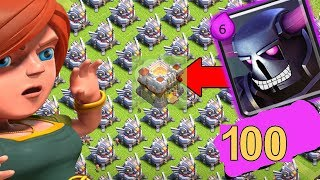 Clash of Clans 100Max level PEKKA VS 150 Eagle Artillery.. WHO WILL WIN? EPIC BATTLE 😂😂