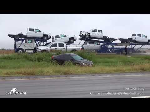 Kingfisher, Oklahoma - Heavy Rain/Car Skidded Off Road - September 26th, 2017