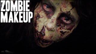 the walking dead zombie special fx   halloween makeup tutorial