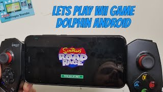 Playing The Simpsons Road Rage on Android Smartphone Dolphin GC Wii Emulator test Gamecube games