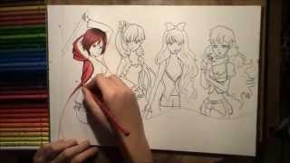 Team RWBY Drawing - Part 1