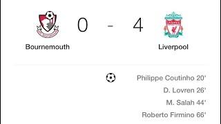 Liverpool vs Bournemouth away