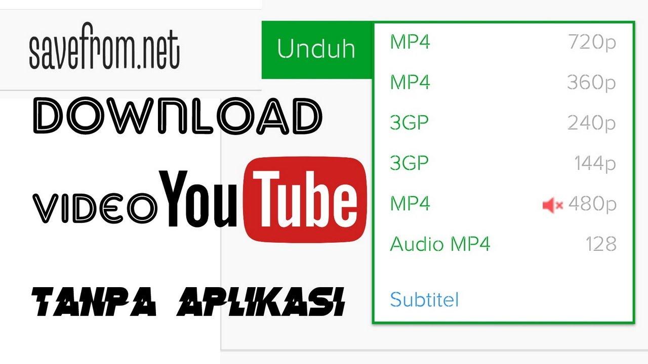 cara download youtube di android tanpa software
