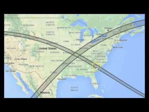 X Marks the Spot: Paths of Two Rare Solar Eclipses Cross Over New Madrid Fault Region